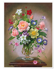 Plakat  Roses, Peonies and Freesias - Albert Williams