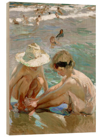 Obraz na drewnie  The wounded foot - Joaquín Sorolla y Bastida