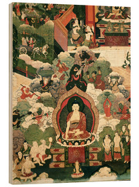 Obraz na drewnie  The life of the Buddha Sakymuni - Tibetan School