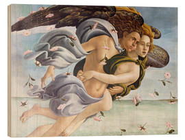 Obraz na drewnie  Birth of Venus, Angels - Sandro Botticelli