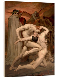 Obraz na drewnie  Dante and Virgile - William Adolphe Bouguereau