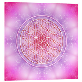 Obraz na szkle akrylowym  Flower of life - unconditional love - Dolphins DreamDesign