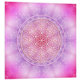 Obraz na PCV  Flower of life - unconditional love - Dolphins DreamDesign