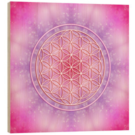 Obraz na drewnie  Flower of life - unconditional love - Dolphins DreamDesign