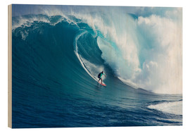 Obraz na drewnie  Giant wave off Maui - Ron Dahlquist