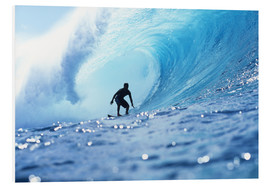 Obraz na PCV  Surfer in the pipeline Barrel - Vince Cavataio