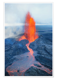 Plakat Lava fountain