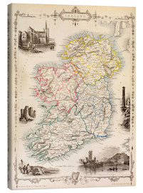 Obraz na płótnie  Map Of Ireland by Thomas Wright (18th century) - Ken Welsh