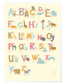 Plakat  Animal Alphabet (German) - Petit Griffin