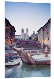 Obraz na PCV  Famous Spanish Steps and Bernini fountain, Rome, Italy - Matteo Colombo