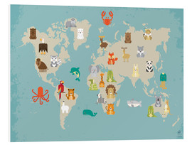 Obraz na PCV  World map with animals - Petit Griffin