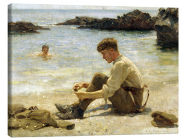Obraz na płótnie  Lawrence as a cadet at Newporth beach - Henry Scott Tuke