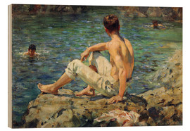 Obraz na drewnie  Green and Gold - Henry Scott Tuke