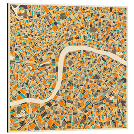 Obraz na aluminium  London Map - Jazzberry Blue