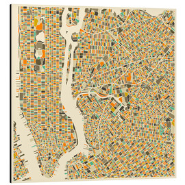 Obraz na aluminium  New York map colorful - Jazzberry Blue