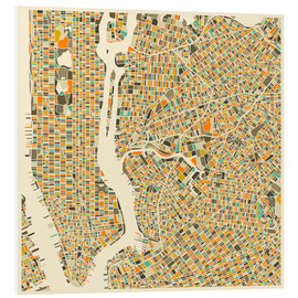 Obraz na PCV  New York map colorful - Jazzberry Blue