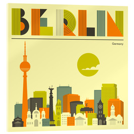 Obraz na szkle akrylowym  Skyline of Berlin - Jazzberry Blue