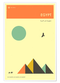 Plakat  Egypt - Jazzberry Blue
