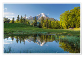 Plakat Watzmann mountain in Upper Bavaria (Germany)