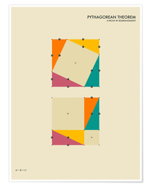 Plakat  Pythagorean theorem - Jazzberry Blue