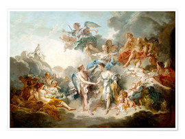 Plakat  Cupid and Psyche celebrate wedding - François Boucher