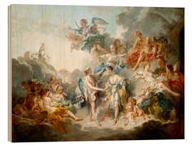 Obraz na drewnie  Cupid and Psyche celebrate wedding - François Boucher
