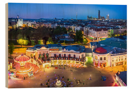 Obraz na drewnie  View from the Vienna Giant Ferris Wheel on the Prater - Benjamin Butschell