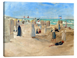 Obraz na płótnie  On the beach in Noordwijk - Max Liebermann