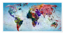 Plakat Map of the world