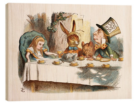 Obraz na drewnie  Alice in Wonderland - John Tenniel