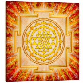 Obraz na drewnie  Sri Yantra - artwork light - Dirk Czarnota