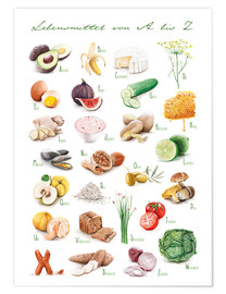 Plakat  Food ABC - Nadine Conrad