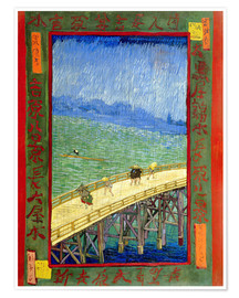 Plakat The bridge in the Rrain (after Hiroshige)