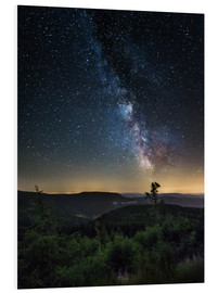Obraz na PCV  Milky Way over Black Forest - Andreas Wonisch