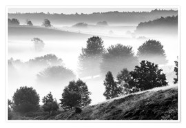 Plakat Misty Dutch Hillls