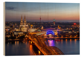 Obraz na drewnie  Cityscape Cologne Germany - Achim Thomae