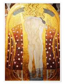 Plakat Beethoven Frieze: Embracing couple