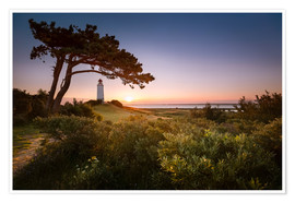 Plakat  Sunrise at Lighthouse Dornbusch on Hiddensee - Kristian Goretzki