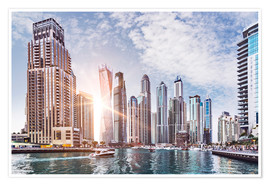 Plakat Sunset at Dubai Marina