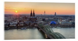 Obraz na szkle akrylowym  Panorama view of Cologne at sunset - Michael Valjak