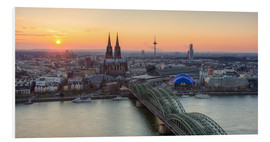 Obraz na PCV  Panorama view of Cologne at sunset - Michael Valjak