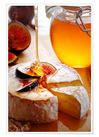 Plakat Brie Cheese and Figs with honey