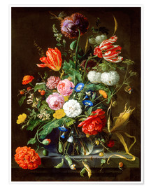 Plakat  Flowers Piece - Jan Davidsz de Heem