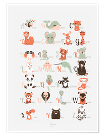 Plakat  ABC animals (French) - Kanzilue