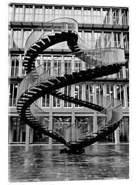 Obraz na szkle akrylowym  Endless steel stairway in Munich