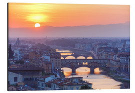 Obraz na aluminium  Florence at sunset