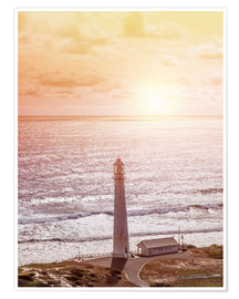 Plakat  Morning glow at the lighthouse