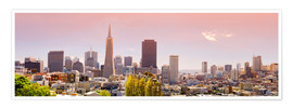 Plakat  San Francisco Skyline Red - Michael Rucker