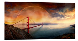 Obraz na szkle akrylowym  Frisco Golden Gate Rainbow - Michael Rucker