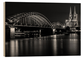 Obraz na drewnie  Cologne Cathedral and bridge